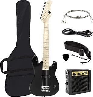 Best Choice Products 30in Beginner Electric Guitar Starter Kit, Jr. Size Kids Instrument Set includes Amp, Strap, Gig Bag, Picks, and Extra Strings - Black
