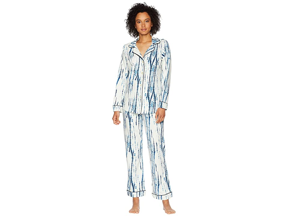 BedHead Indigo Dye Long Sleeve Shorts Pajama Set (Indigo Dye) Women