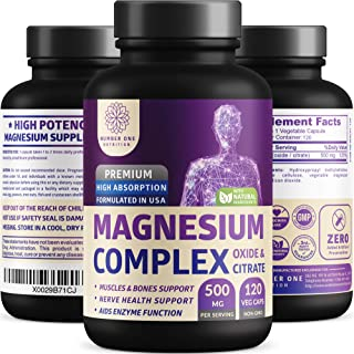 N1N Premium [3X Absorption, Vegan] Magnesium Complex, Powerful Supplement for Sleep, Leg Cramps, Muscle Recovery & Relaxat...