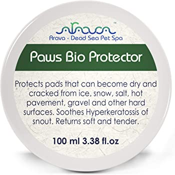 Arava Natural Paw Nose Balm - for Dogs & Cats – Big Pack 3.38 oz - Soother - Relief & Protection for Dry Cracked Irritated Paws - Hot Spots Treatment - Healing Moisturizing Wax Cream for Pads & Snouts