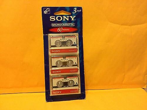 Sony 3MC-60B Microcassette - 3 Pack