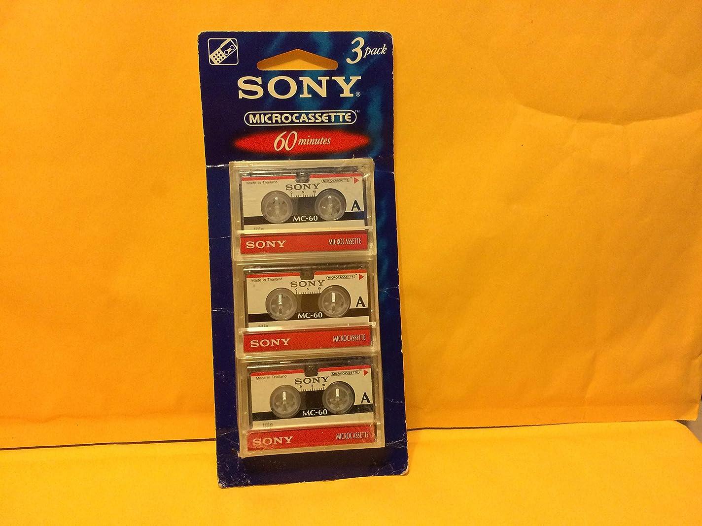 参照長くする何もないSony 3?mc-60b Microcassette?–?3パック