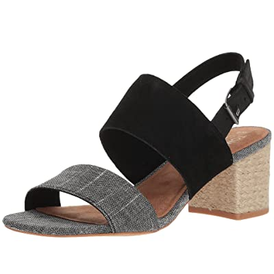 TOMS Poppy (Black Suede/Chambray) Women