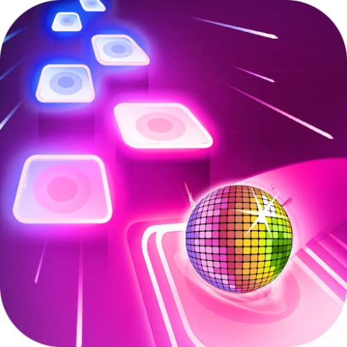 Free Magic Music Tiles Neon Color Ball Hop Game! EDM Rush Dancing Ball Run Forever