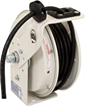 product image for KH Industries RTB Series ReelTuff Power Cord Reel, 12/3 SJOW Black Cable, 20 Amp, 50' Length, White Powder Coat Finish