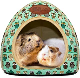 Allnice Guinea Pig Cage Liner 2 Pack Washable Guinea Pig Bedding 23.6 x 15.7in Guinea Pig Pee Pads Non-Slip Reusable Fast Absorbent Pee Pads for Hamsters Chinchillas Hedgehogs Cats Rabbits
