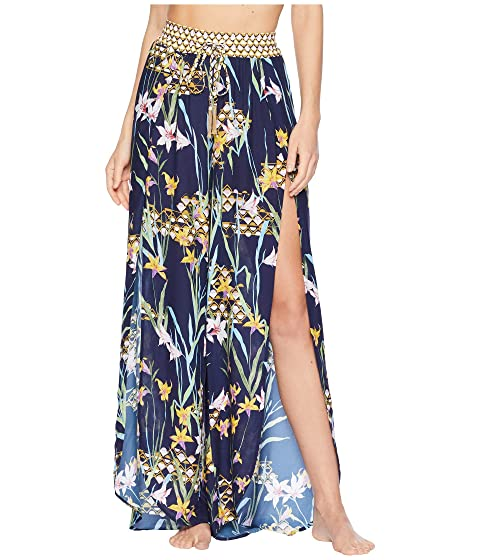 7b8db297c3f8a Trina Turk Fiji Floral Mix Split-Leg Beach Pant Cover-Up at Zappos.com