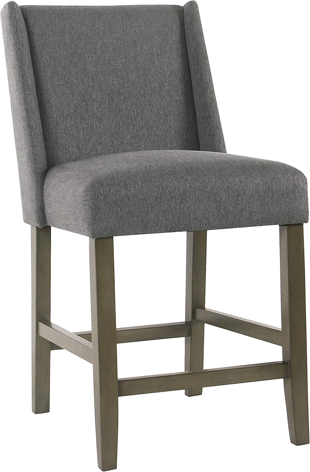 HomePop Dinah Modern supreme Counter Height Sales Barstool 24-inch Gray