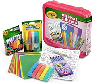 Crayola All That Glitters Art Case Coloring Set, Gift for Kids Age 5+