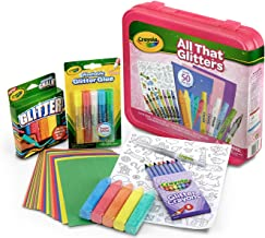 Crayola All That Glitters Art Case Coloring Set, Toys, Gift for Kids Age 5+