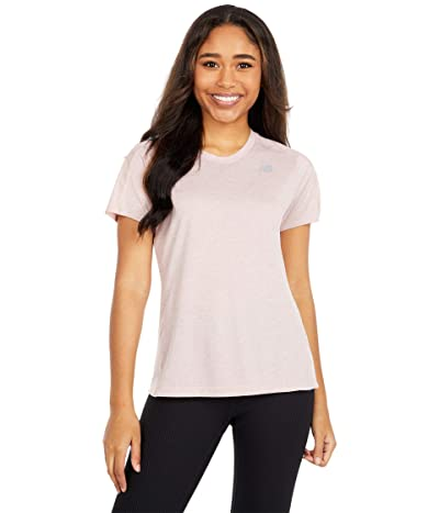 New Balance Impact Run Short Sleeve (Saturn Pink Heather) Women