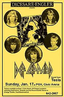 Innerwallz Def Leppard at Civic Arena 1988 Retro Art Print — Poster Size — Print of Retro Concert Poster — Features Rick Savage, Joe Elliott, Rick Allen, Phil Collen, and Vivian Campbell.
