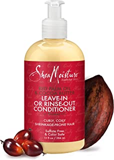 SheaMoisture Leave-in or Rinse-out Conditioner (with Red Palm Oil & Cocoa Butter + Flaxseed Oil) 13 fl oz