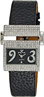 Spectrum Women Silver Leather Band Watch - 92398LL-1
