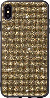 Anya Shiny Glitter Cute Phone Case Girls Women Slim TPU Soft Rubber Chrome Bumper Sparkly Luxury Bling Shockproof Protective Case Cover for Oppo R11 Gold