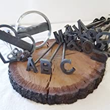 The Heritage Forge Heart, Circle, +, Infinity, A-Z Alphabet Branding Irons - 26 Letters and 5 Special Characters- Cowboy Monogram Hand-Forged Basic