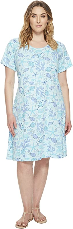 Extra Fresh by Fresh Produce - Plus Size Sea Life Sadie Dress