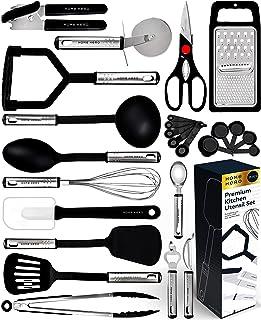 وسایل آشپزخانه آشپزخانه - 23 ظروف پلاستیکی نایلون - ظروف آشپزخانه با آشپزخانه - لوازم آشپزخانه مجموعه وسایل آشپزخانه - بهترین لوازم آشپزخانه هدیه توسط HomeHero