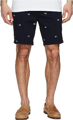 Nautica - Flag Print Critter Deck Shorts