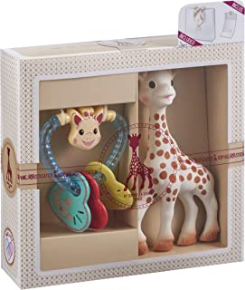 Sophie la girafe Rattle and Teether Toy Gift Set for Babies