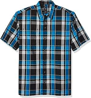 dickies Men's Yarn Dyed Short Sleeve Camp Shirt