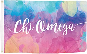 Chi Omega Water Color Sorority Flag Greek Letter Use as a Banner Large 3 x 5 Feet Sign Decor chi o