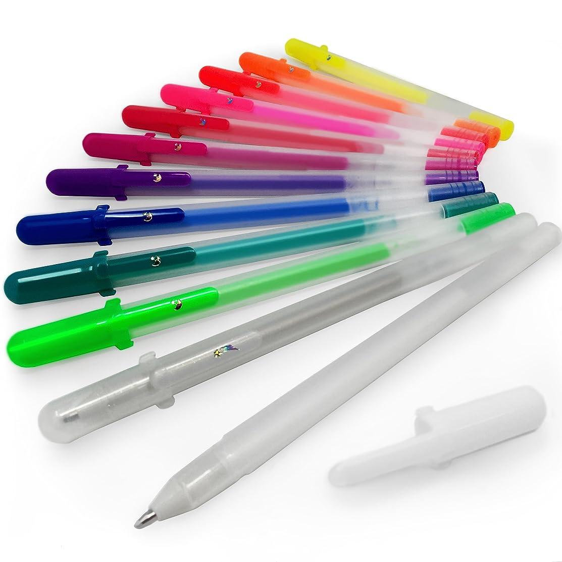 Sakura Gelly Roll Moonlight Fluorescent Gel Pens – Wallet of 12 Assorted Colours – SA 290