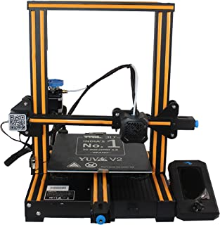 WOL 3D UPGRADED Creality Ender 3 V2 Model 2021 With Orange strip, Upgraded 3D Printer with Silent Motherboard (V 4.2.2) , ...