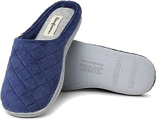 Dearfoams - Zapatillas de terciopelo para mujer