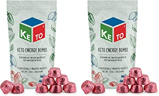Keto Squared Snack Fat Bombs (16-Pack, Berry Cheesecake); Keto2 Energy Nuggets for On the Go