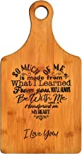 Mothers Gift – Special Love Heart Poem Bamboo Cutting Board Design Mom Gift Mothers Day Gift Mom Birthday Christmas Gift Engraved Side For Décor Hanging Reverse Side For Usage (7x13.5 Paddle)