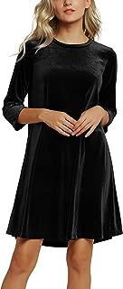 Best velvet shift dress long sleeve Reviews
