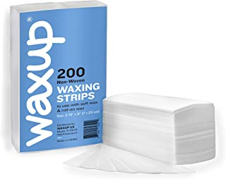 waxup Non Woven Wax Strips, Disposable Large Waxing Strips to Use with Soft Wax for Hair Removal, Ideal for Facial and Body Areas (Legs, Bikini, Arms, Face, Upper Lip and Chin), Same as 50 Yards Roll