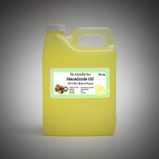 32 fl.oz Macadamia Nut Organic Oil Cold Pressed Premium Best Quality Skin Hair Care