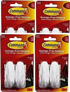 Command Medium Designer Hooks, Wit, 8Hooks