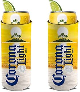 Corona Light Island Sunset Slim Line Can Cooler 2-Pack