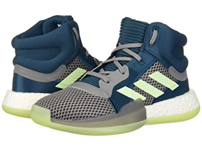 adidas Kids Marquee Boost Basketball (Big Kid) (Mineral/Glow Green/Grey) Kids Shoes