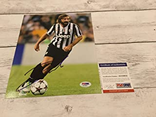 Andrea Pirlo Signed Picture - Juventus 8x10 COA Italy Italia a - PSA/DNA Certified - Autographed Soccer Photos