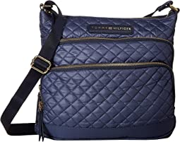Alva Large North/South Crossbody Quilted Nylon