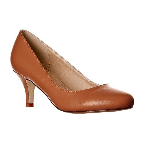 78407d7c8ac39 Brown Kitten Heels: Amazon.com