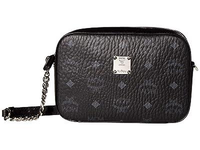 MCM Visetos Original Crossbody Mini (Black) Bags