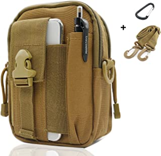 Tactical Waist Pack Multi Purpose Bag EDC Pouch Utility Sevenpicks Upgraded Version with Strap Camping Hiking Pouch Nylon Cell Phone Bag