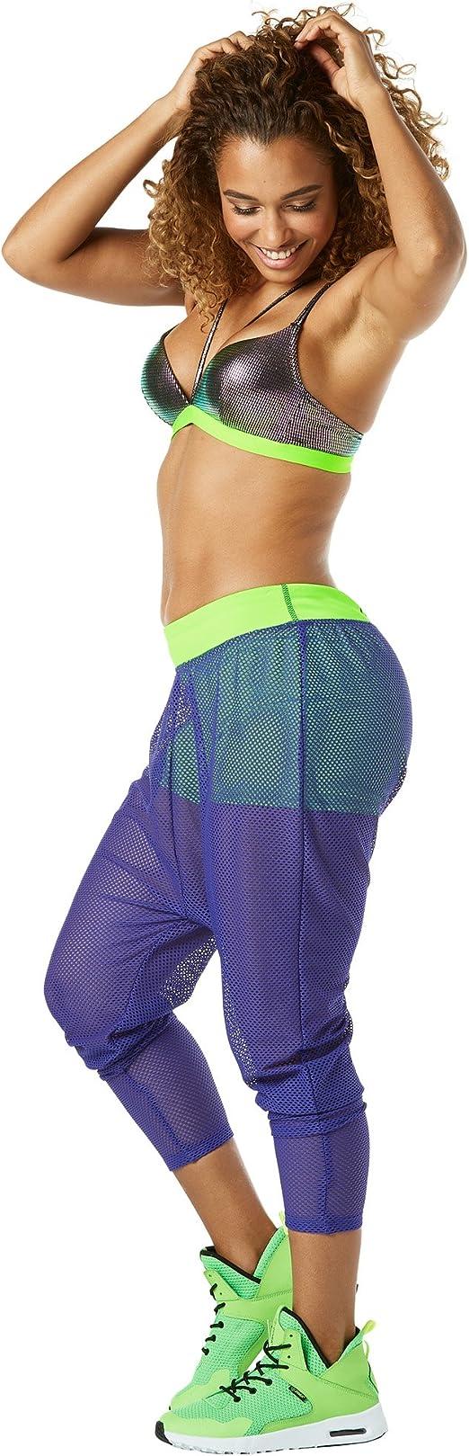 Zumba Fitness Zumba Harem Capri Pantalon Sport Femme dEntra/înement Dance Fitness Haute de Surv/êtement Pants Z Denim S