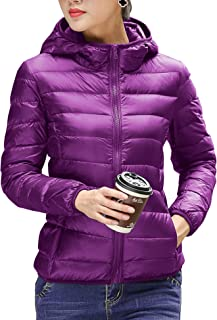 CHERRY CHICK Women's Light Weight Down Jacket with Hood