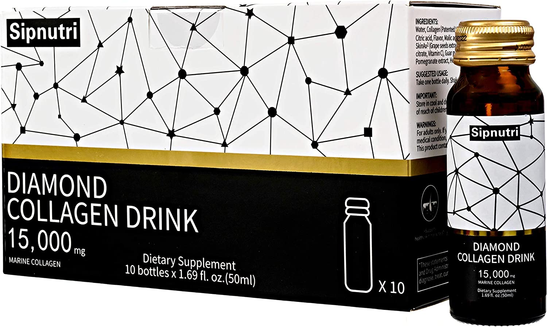 Sipnutri Diamond 35% OFF Liquid Cash special price Collagen Drink 15000mg Marine