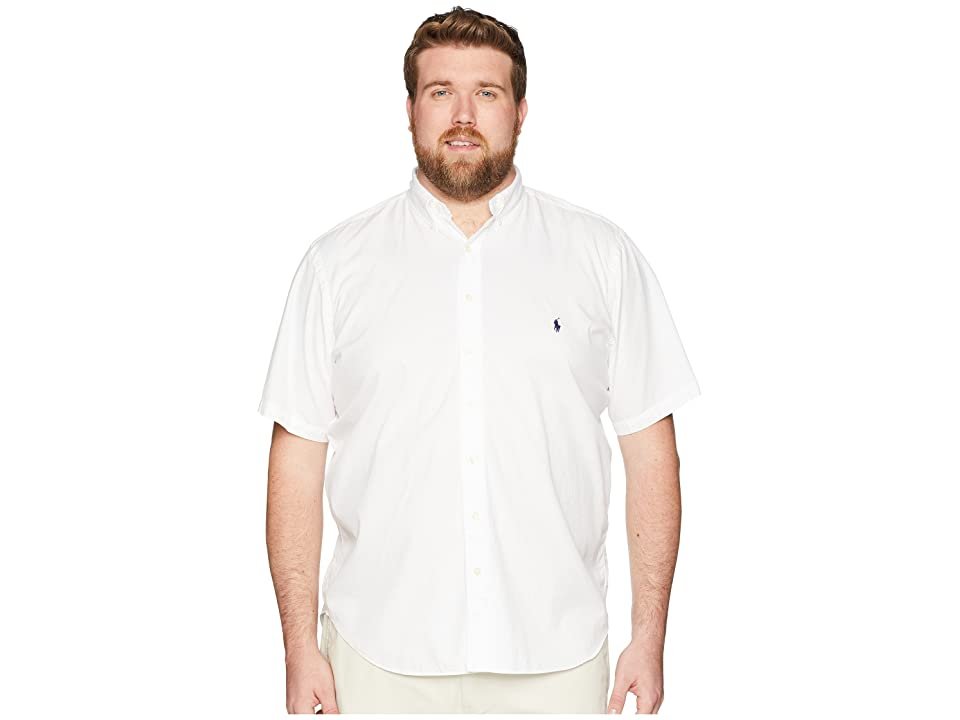Polo Ralph Lauren Big Tall Garment Dyed Chino Short Sleeve Sport Shirt (White) Men
