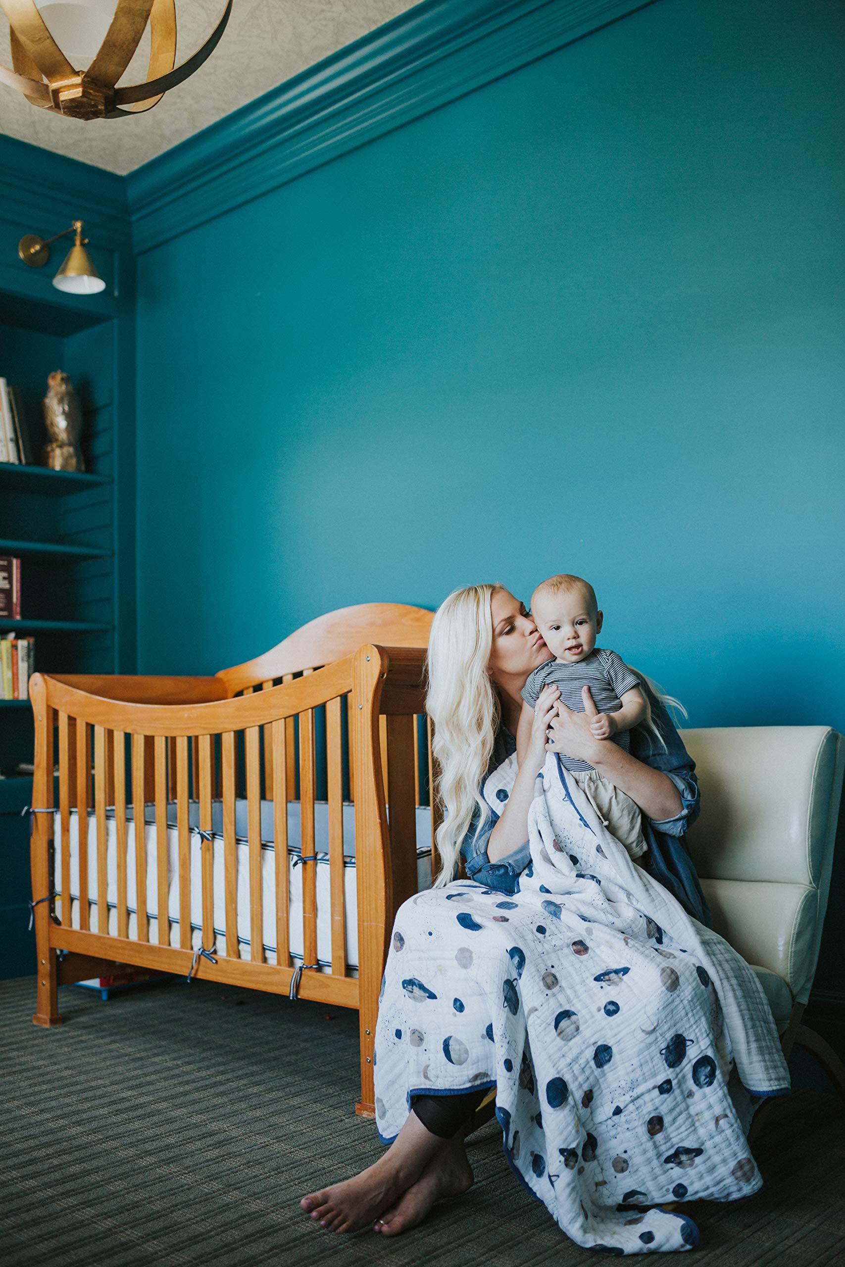 para ni/ños y ni/ñas 80cm x 80cm Blue Point Manta de muselina JYCRA para beb/é de algod/ón org/ánico transpirable y unisex