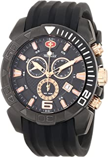 Swiss Precimax Recon Pro Sport SP13115 Black Polyurethane Swiss Chronograph Men's Watch