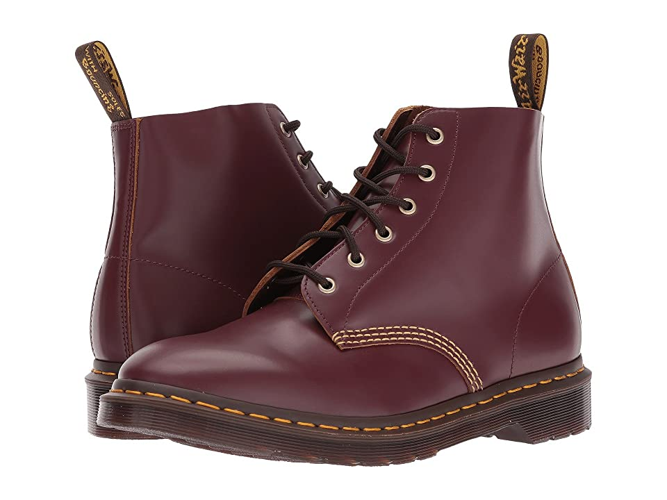 Dr. Martens 101 Smooth Archive 6-Eyelet Boot (Oxblood Vintage Smooth) Boots