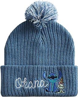 CONCEPT ONE Lilo & Stitch Ohana Scrump Cuff Pom Beanie Blue